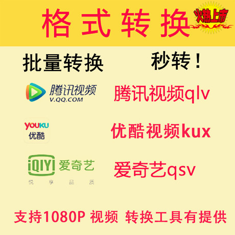 qlv格式转换mp4QSV格式转换器视频下载腾讯转码工具KUX格式转换